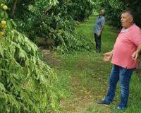 Γιώργος Καρασμάνης: Επίσκεψη στις πληγείσες περιοχές από την προχθεσινοβραδυνή Θεομηνία